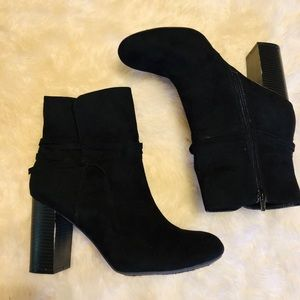 CHRISTIAN SIRIANO For Payless Black Ankle Boots